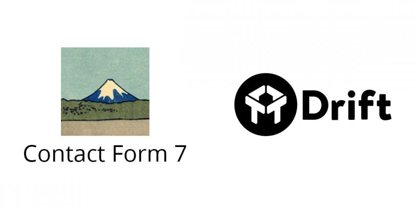 Contact Form 7 logo and Drift Chat logo